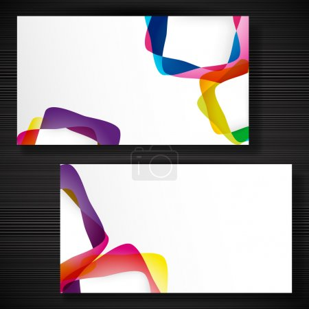 Abstract business-card with forms of empty frames for your card