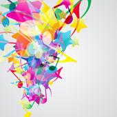 Barevné hudební pozadí s jasně hudební prvky