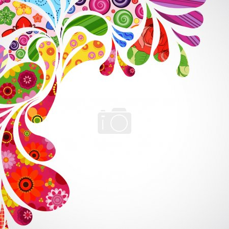 Illustration for Floral and ornamental item background. - Royalty Free Image