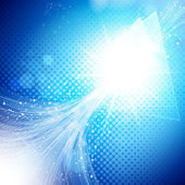 Abstract blue and light background