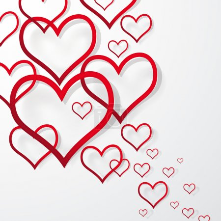 Vector illustration abstract Valentine s Day Background.