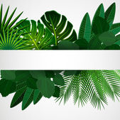 """Постер, картина, фотообои """"тропические листья. цветочный дизайн фона."""""""