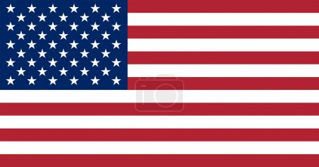 The official basic design of the current U.S. flag...