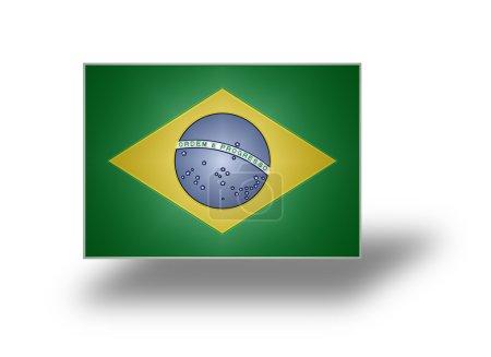 Flag of Brazil (stylized I).