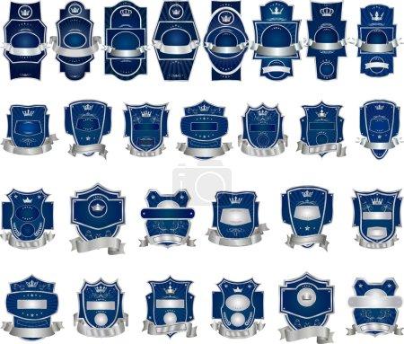 Ilustración de Conjunto de recopilación de etiquetas decorativas vector - Imagen libre de derechos