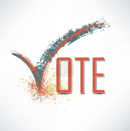 Vote text with check mark