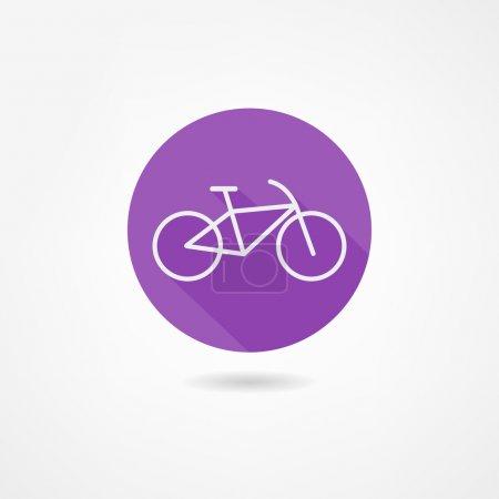 Photo pour Icône de vélo - image libre de droit