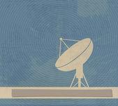 Satelitní parabolu. retro plakát