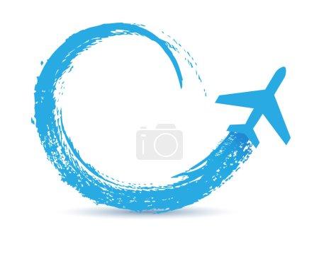 Illustration pour Icône des trajectoires des avions civils - image libre de droit