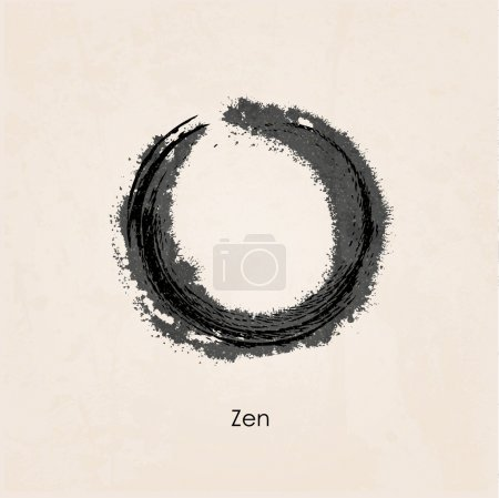 Illustration for Zen calligraph - Royalty Free Image