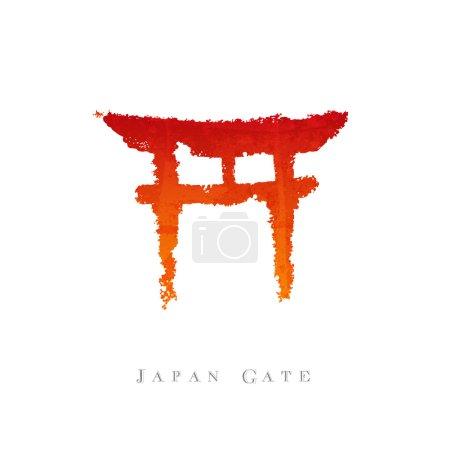 Japon porte calligraphie