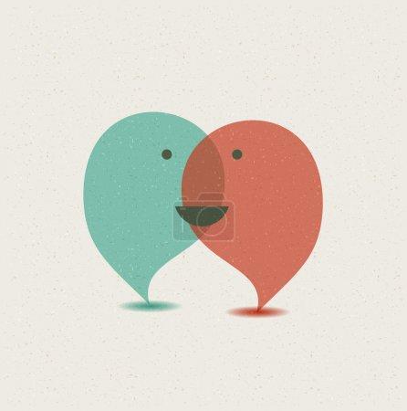 Dialog speech bubbles.