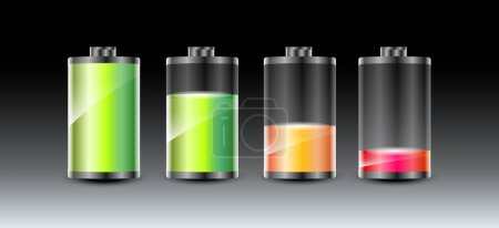 Photo for Vector batteries icons. - Royalty Free Image