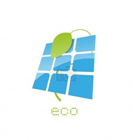 Illustration pour Panneau solaire signe - image libre de droit
