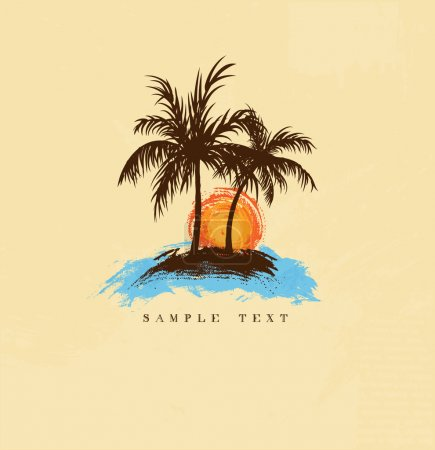 Illustration for Palm trees - Royalty Free Image