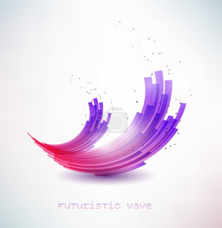 Illustration for Futuristic wave sign - Royalty Free Image
