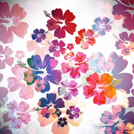 Illustration for Abstract tropical background - Royalty Free Image