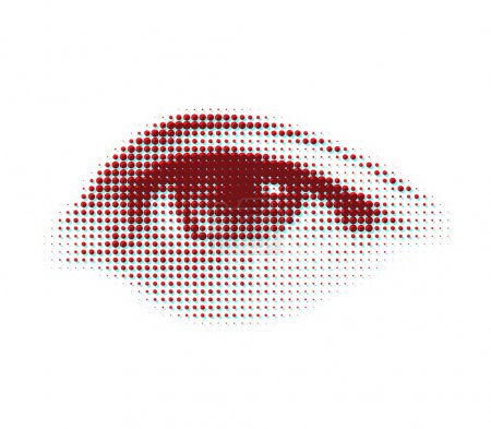 Illustration for Vector halftone eye shape for backgrounds and design - Royalty Free Image