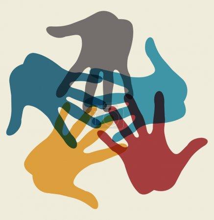 Illustration pour Branchement des mains - image libre de droit
