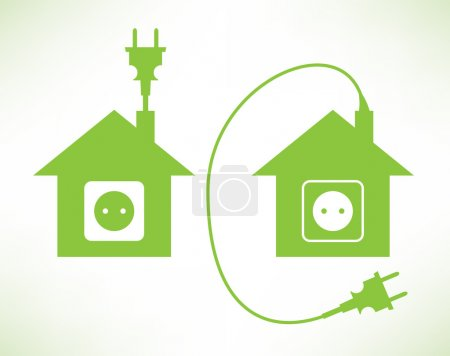 Illustration for Green House - Royalty Free Image