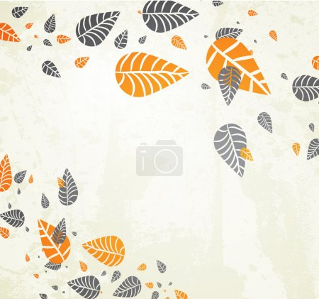 Illustration for Autumn Background-Autumn Leaves Falling for your design - Royalty Free Image