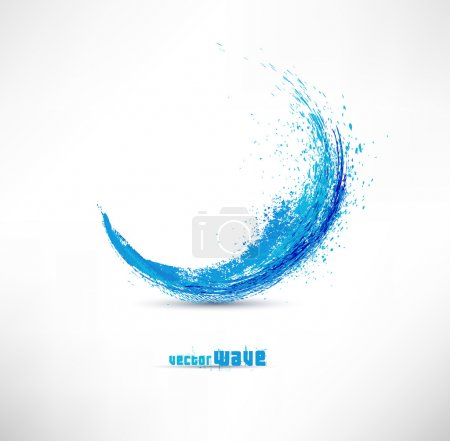 Illustration for Vector illustration of abstract blue wave - Royalty Free Image