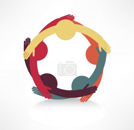 Illustration for Hands connecting icon - Royalty Free Image