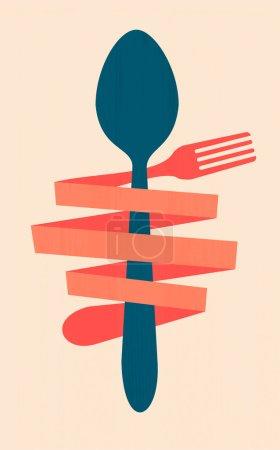 vintage restaurant menu retro poster