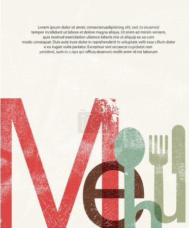 Menu. Design print background