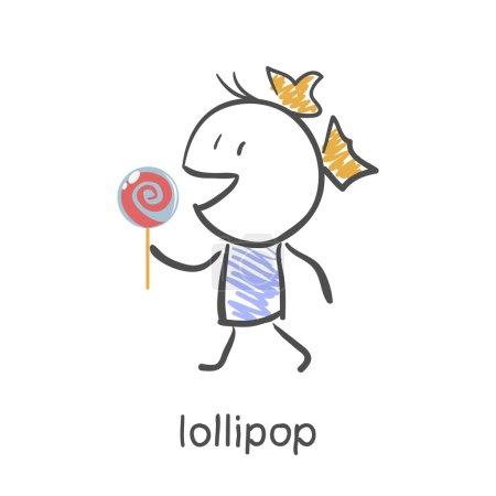 Girl eating a lollipop