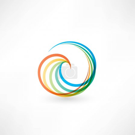 Illustration for Design elements with spiral motion. - Royalty Free Image