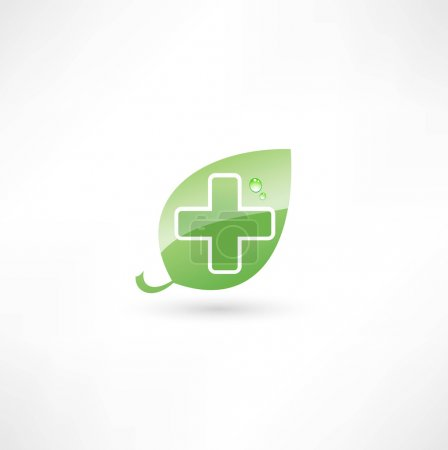 Illustration for Eco medicine icon - Royalty Free Image