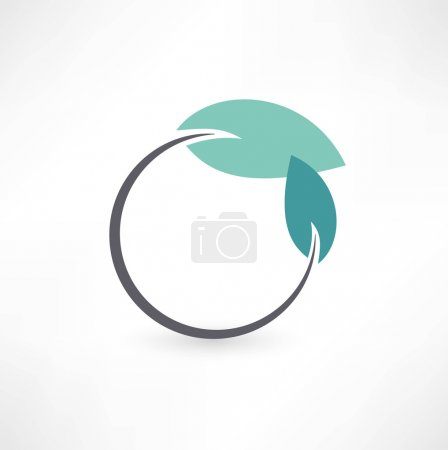 Illustration for Eco symbols with leaf - Royalty Free Image