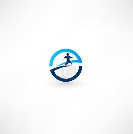 Running man icon