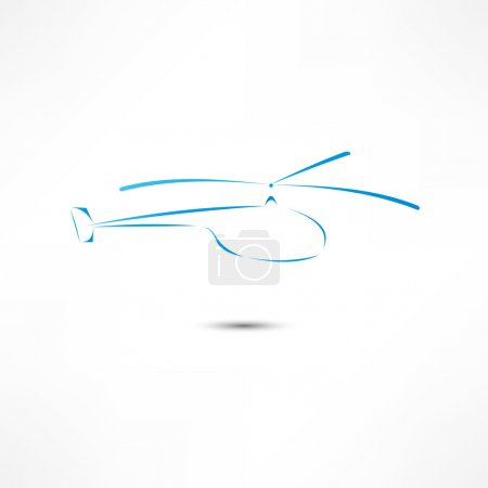 Illustration for Helicopter Icon - Royalty Free Image
