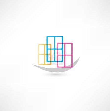Illustration for Window icon - Royalty Free Image
