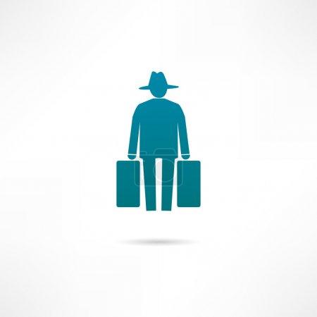 Human migration icon...