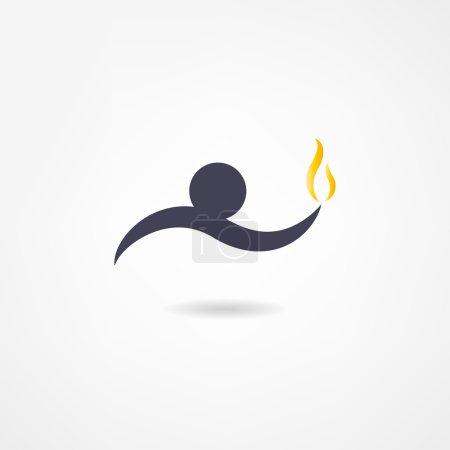 Illustration pour Icône de feu - image libre de droit