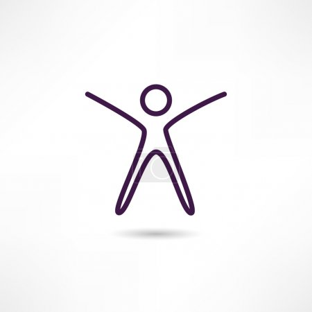 Illustration for Success people icon - Royalty Free Image