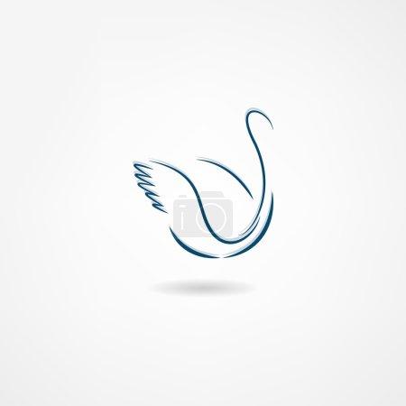 Ilustración de Icono de cisne Ave - Imagen libre de derechos