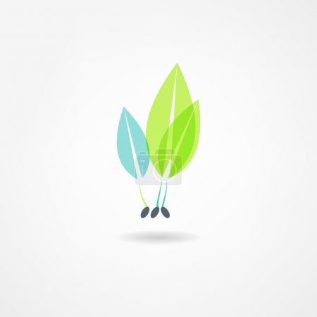 Illustration for Plants eco icon - Royalty Free Image