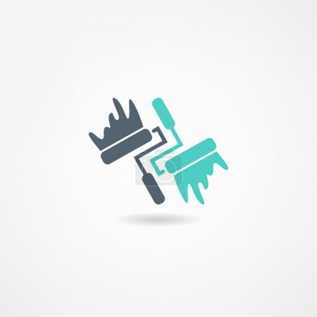 Illustration for Painter icon - Royalty Free Image