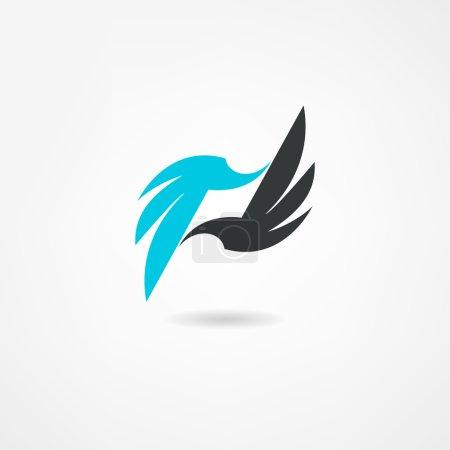 Ilustración de Icono de pájaro - Imagen libre de derechos