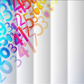 Abstract Colorful Background with numbers