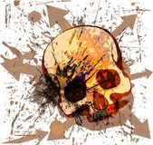Skull grunge background