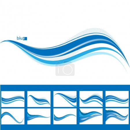 Illustration for Abstract waves background. Vector - Royalty Free Image