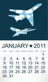 2011 Airplane Calendar January