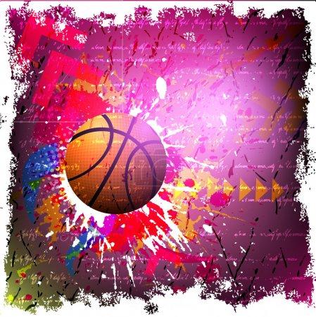 Vector background of basketball sport...