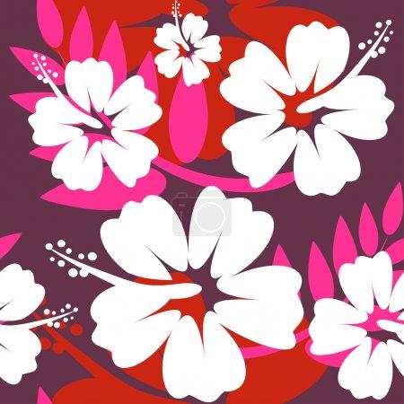 Seamless Hibiscus flower Background