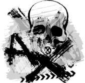 Skull grunge background
